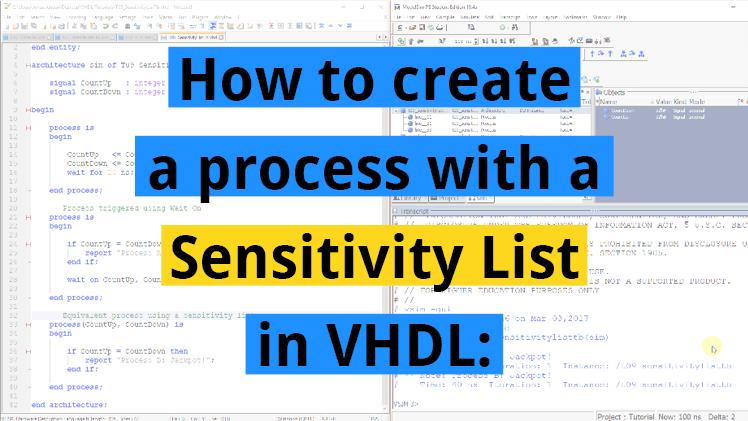 Sensitivity List
