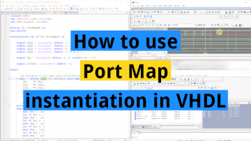 How to use Port Map instantiation in VHDL