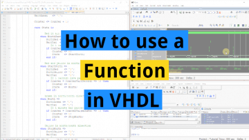 How to use a Function in VHDL