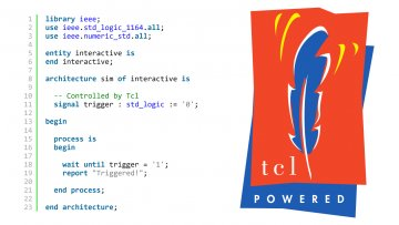 Interactive Testbench using Tcl