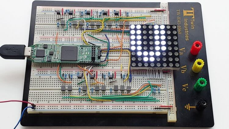 Dot Matrix LED Controller FPGA course