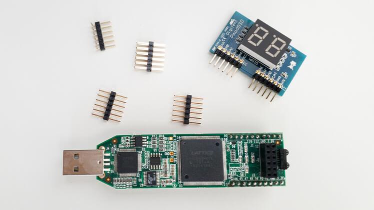 Lattice iCEstick and 7 segment display