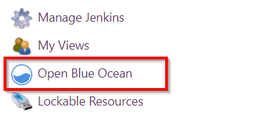 Open Blue Ocean menu item