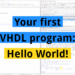 VHDL Hello World